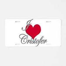 I love (heart) Cristofer Aluminum License Plate