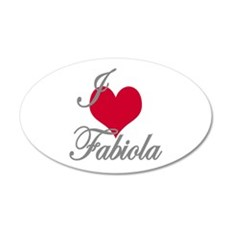 I love (heart) Fabiola Wall Decal