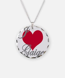 I love (heart) Gaige Necklace