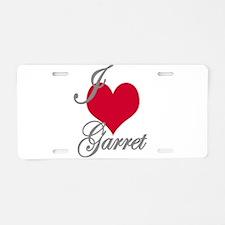 I love (heart) Garret Aluminum License Plate