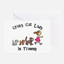 Crazy Cat Lady In Training Greeting Card