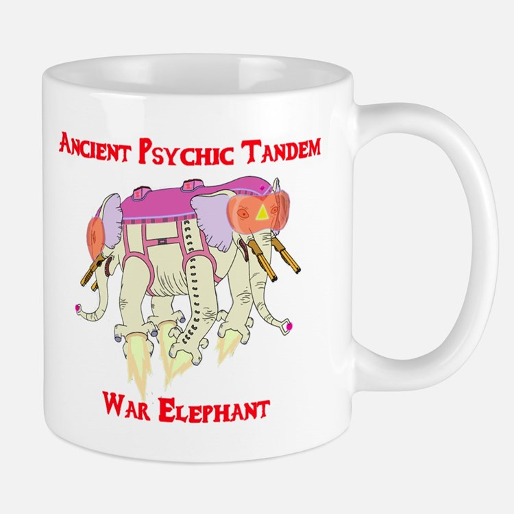 Ancient Psychic Tandem War Elephant Small Small Mug