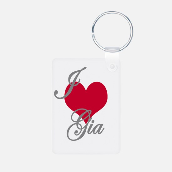 I love (heart) Gia Keychains