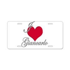 I love (heart) Giancarlo Aluminum License Plate