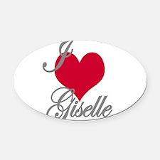 I love (heart) Giselle Oval Car Magnet