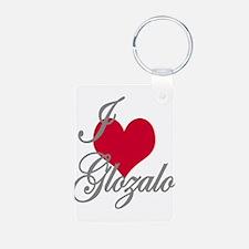 I love (heart) Glozalo Keychains