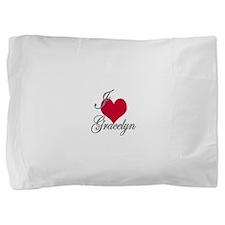 I love (heart) Gracelyn Pillow Sham