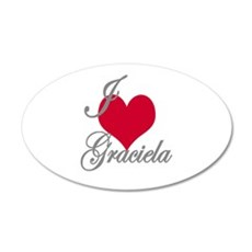 I love (heart) Graciela Wall Decal