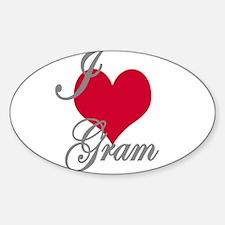 I love (heart) Gram Sticker (Oval)