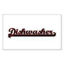 Dishwasher Classic Job Design Decal