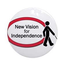 New Vision logo Ornament (Round)