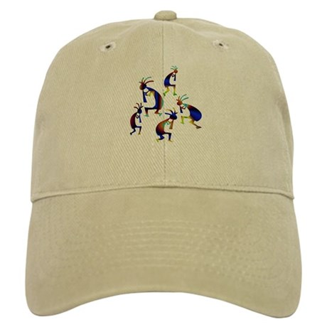 Metallic Blue Kokopelli Cap