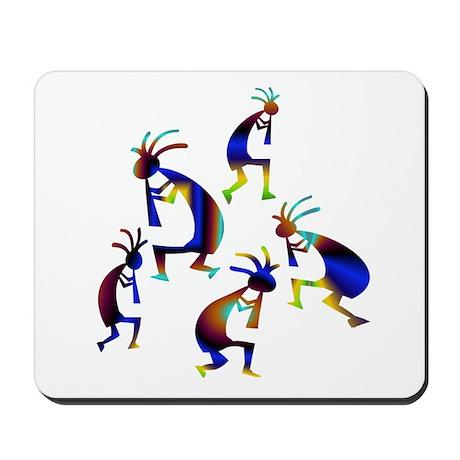 Metallic Blue Kokopelli Mousepad