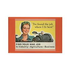Women in WW II Magnets