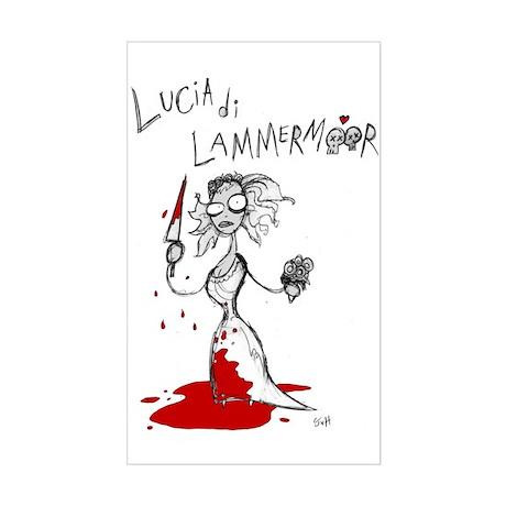 Lucia di Lammermoor Rectangle Sticker