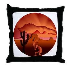 Southwest Kokopelli Throw Pillow