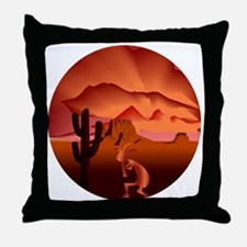 Southwest Kokopelli Throw Pillow