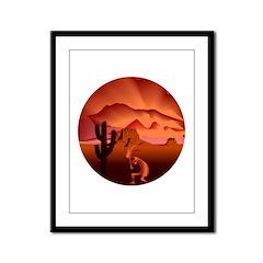 Southwest Kokopelli Framed Panel Print
