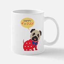4th of July Pug Mug