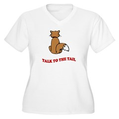 Talk To The Tail Women's Plus Size V-Neck T-Shirt