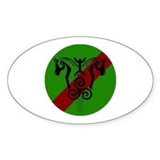 sinnsreachd green and red circle Decal
