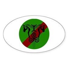 sinnsreachd green and red circle Stickers
