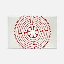 Labyrinth Red Rectangle Magnet