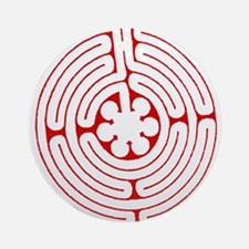 Labyrinth Red Ornament (Round)
