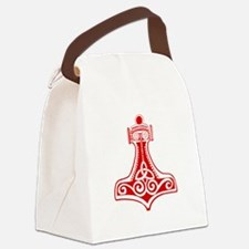 Thors Hammer Red Canvas Lunch Bag