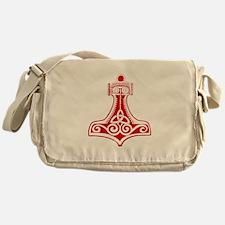 Thors Hammer Red Messenger Bag