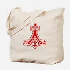 Thors Hammer Red Tote Bag