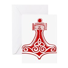 Thors Hammer Red Greeting Cards (Pk of 20)