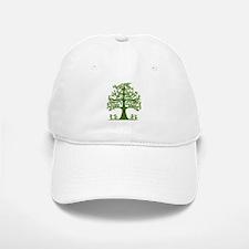 Swirl tree green Baseball Baseball Cap