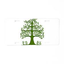 Swirl tree green Aluminum License Plate