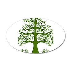Swirl tree green 35x21 Oval Wall Decal