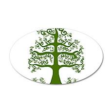 Swirl tree green Wall Decal
