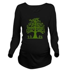 Swirl tree green Long Sleeve Maternity T-Shirt