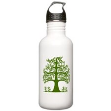 Swirl tree green Water Bottle