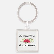 Nevertheless She Persisted Square Keychain