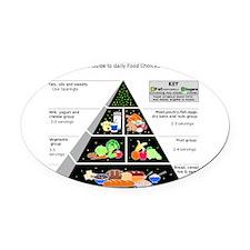 Food Pyramid Oval Car Magnet