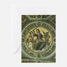 Justice by Raphael Greeting Cards