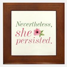 Nevertheless She Persisted Framed Tile
