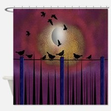 Funny Loves bird watching Shower Curtain