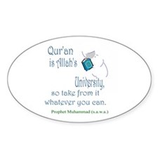 Allah's University (Oval)Sticker Bookmark