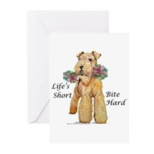 Bite Hard Airedale! Greeting Cards (Pk of 20)