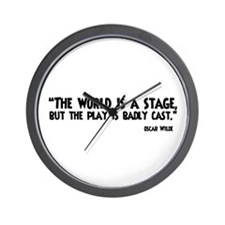 The World Is A Stage Wall Clock