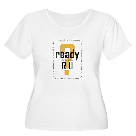 R U Ready Women's Plus Size Scoop Neck T-Shirt