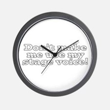 Stage Voice Wall Clock