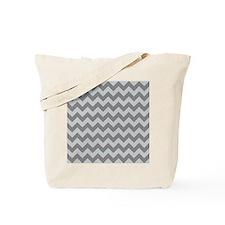 Glacier Gray and Titanium Chevrons Tote Bag
