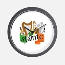 Slainte Wall Clock